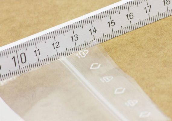 Druckverschlussbeutel Länge mit Meterstab
