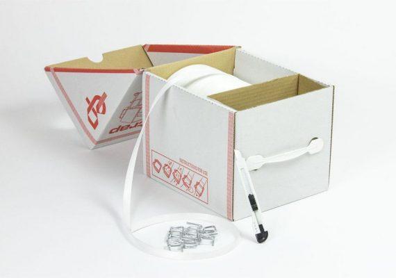 Fadenstrukturband in Dispenser Box