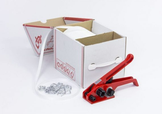 Fadenstrukturband Dispenser Box mit Spanngerät