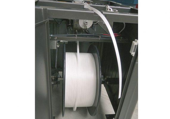 Halbautomatische Umreifungsmaschine Seitenansicht