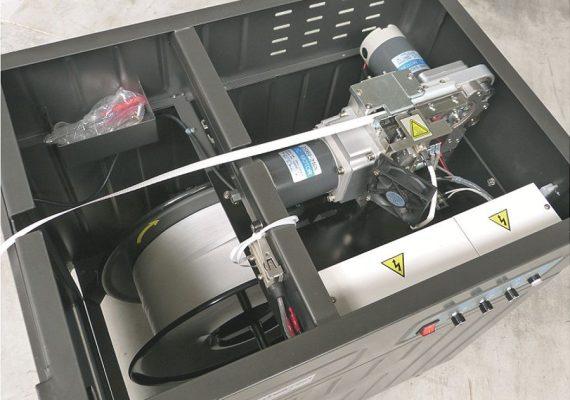 Halbautomatische Umreifungsmaschine Ansicht von oben