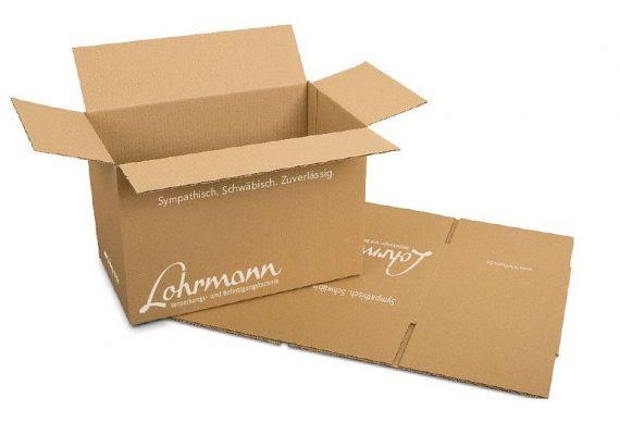 Bedruckter Lohrmann Karton (Negativdruck)