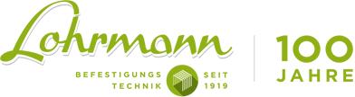 Lohrmann Logo Befestigungstechnik 100 Jahre