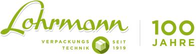 Lohrmann Logo Verpackungstechnik 100 Jahre