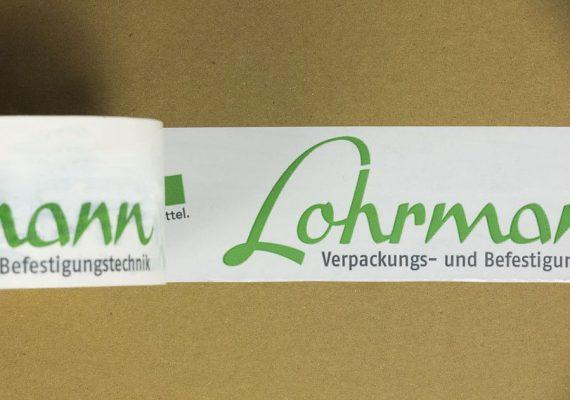 Nahaufnahme Lohrmann bedrucktes Klebeband