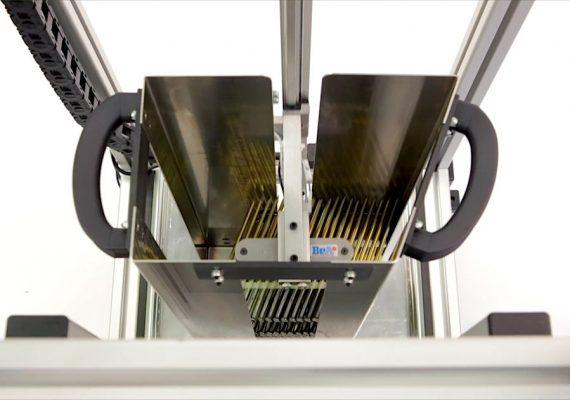 Automatische Beladestation für Modulgeräte Ansicht von oben
