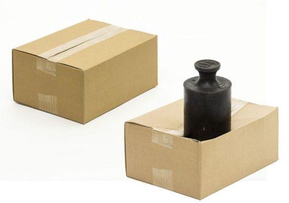 Belastungstest Karton gewicht ohne Umreifungsband